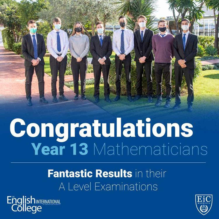 Year 13 Mathematicians - January A Level Examination Results